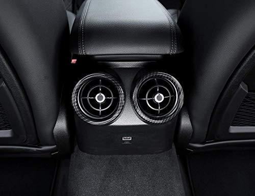 Carbon Fiber Style ABS Plastic Rear Row Air Conditioning Vent Cover Frame Trim for Alfa Romeo Giulia 2017 2018, 2 pcs/set ()