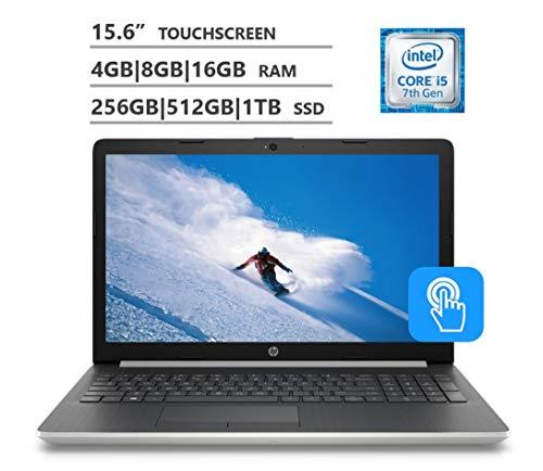 2019 HP Premium 15.6″ HD Touchscreen Laptop, 7th Gen Intel Core i3-7100U|i5-7200U, 4GB|8GB|16GB RAM, 1TB|2TB HDD, 256GB|512GB|1TB SSD, WiFi Bluetooth HD Webcam HDMI, Windows 10, Silver|Gray