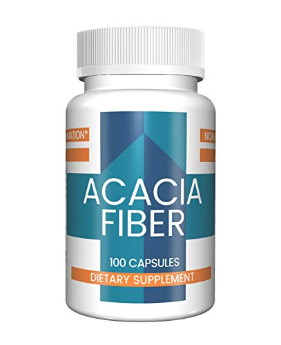 - Acacia Fiber Capsules (100 Capsules, 1,300 mg per Serving) by Pure Organic Ingredients, All-Natural Prebiotic Dietary Supplement, Promotes Healthy Bowel Function