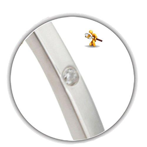 Bracelet Argent 925/1000-Oxyde de zirconium style Cartier avec charnière Ouverture