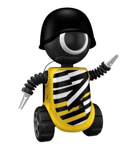 FLIPPER 11031 Big Eye Robot Be Bold - Soporte de cepillo de dientes (8 cm, fijación por ventosa), diseño de robot de color amarillo: Amazon.es: Hogar
