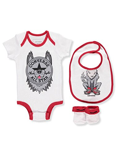 Converse Baby Boys' 3-Piece Layette Set - Wolf Gray, 0-6 Months -