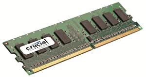 Crucial Technology 1 GB 240-Pin DIMM DR2 PC2-5300 Memory Module (CT12864AA667)