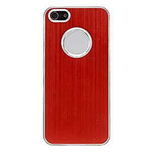 Brushed Aluminum Hard Case with Back Chrome for iPhone 5/5S (Optional Colors) , Silver