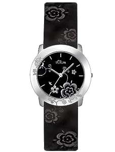 s.Oliver SO-1660-LQ - Reloj de mujer de cuarzo color negro