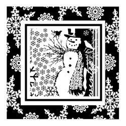 Snowman Frame Mini Clear Rubber Stamp (60-30025)