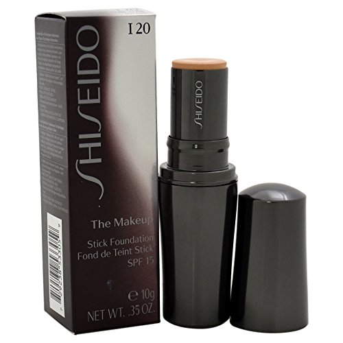 Shiseido Day Foundation - Shiseido The Makeup Stick SPF 15# I20 Natural Light Ivory Foundation for Women, 0.35 Ounce