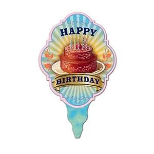 Studio Oh Mini Treat Topper, Birthday Cake, 36-Count