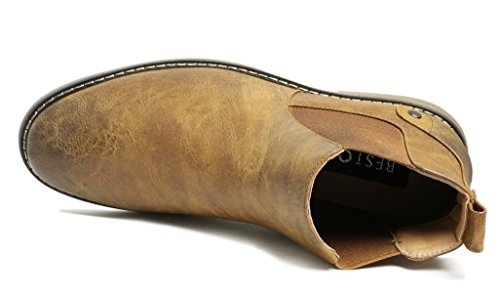 PartyEight Mens Ankle Casual Chelsea Boots Brown 7 by PartyEight (Image #3)