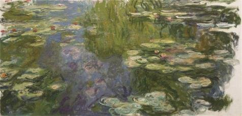 - 'Claude Monet - The Pool With Waterlilies, 1917-19' Oil Painting, 8x17 Inch / 20x42 Cm ,printed On High Quality Polyster Canvas ,this Imitations Art DecorativePrints On Canvas Is Perfectly Suitalbe For Study Decoration And Home Decor And Gifts