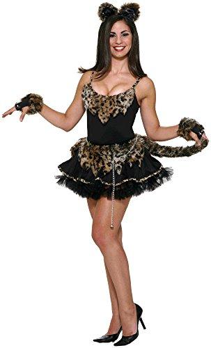 Forum Novelties Women's Feline Fantasy Leopard Dress, Black, Standard ()
