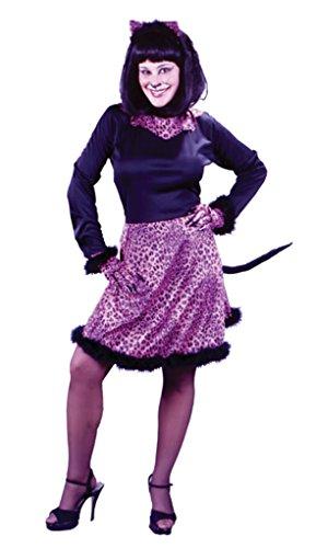 Funworld Womens Animals Marabou Kitty Pink Adults Fancy Halloween Themed Costume, S/M (4-8)