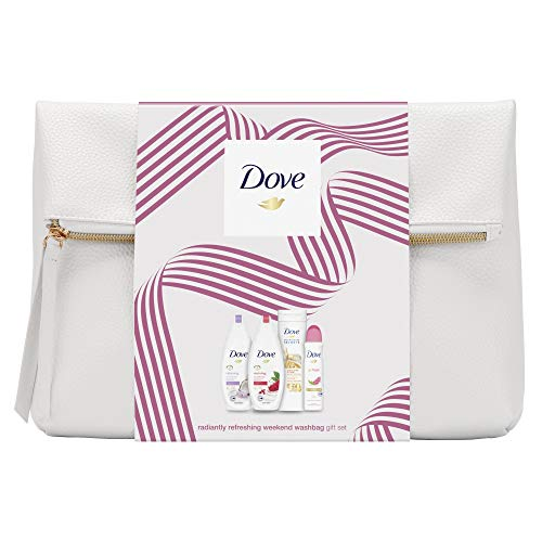 Dove Radiantly Refreshing Weekend Wash Bag Gift Set, Body And Skin Care Kit, Moisturising Shower Gel And Long Lasting…
