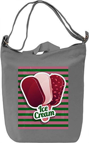 Ice Cream Borsa Giornaliera Canvas Canvas Day Bag| 100% Premium Cotton Canvas| DTG Printing|