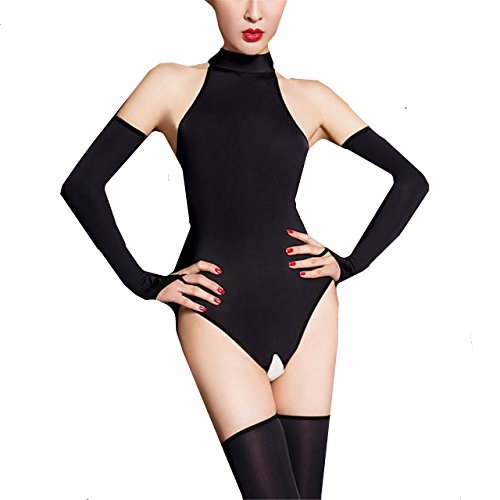 Aiybao Women s See Through Sheer Mesh One Piece High Cut Romper Bodysuit  Babydoll Thong Swimsuit Teddy 0d1d07f6a