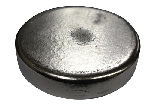 Lead Cast Disc 8 inch Diameter x 1 inch Thick by Roto Metals