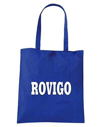 T-Shirtshock - Borsa Shopping WC1004 ROVIGO ITALIA CITTA STEMMA LOGO Blu Royal