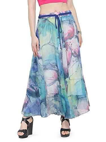 Chiffon Export ankle Full Handicrfats Long Maxi Beach Indian Skirt Blending Women Length BRf8Uqw