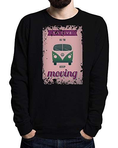 School Colored Schwarz Men's Moving Keep Old To Live Sweater 7CIRnqfw