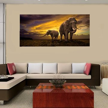 5d Diamond Painting - Diamond Painting Home - Elephant Dawn Landscape Cross Stitch New 5D Paintings Paper ( Diy Diamond Painting - Express Cross Stitch