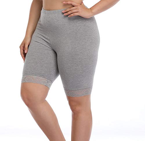 Women's Plus Size Ultra Soft Short Leggings Pants Lightweight Breathable Mid Thigh Stretchy ()