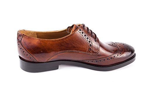 Piel Hamilton amp; Lisa de para Cordones de 601 Marr Melvin Mujer MH15 Zapatos pwBxA88Oq