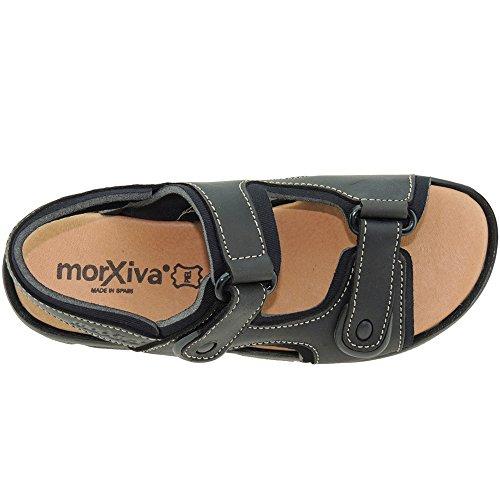 para Neopreno Abierta 7001 Velcros Modelo MORXIVA Forro California Sandalia Hombre Punta Negro BSnqwA01I