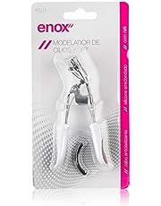 Enox 586, Modelador de Cílios Soft Cromado, Branco/Preto