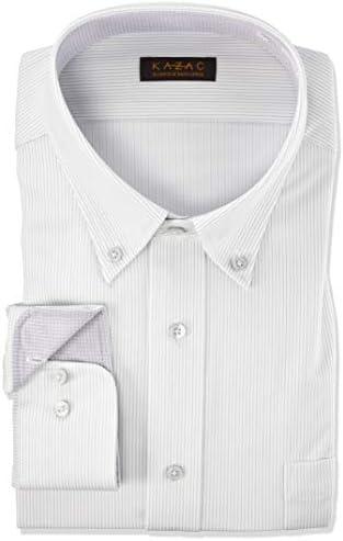 [カザック]ワイシャツ ボタンダウン メンズ|GKW202 [781-3L86] GKW202 781-灰-ボタンダウン 日本 3L45-86) (日本サイズ3L相当)