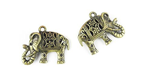 1x Anti-Brass Fashion Jewelry Making Charms A2899 Hollow Elephant Wholesale Supplies Pendant Craft DIY Vintage Alloys Necklace Bulk Supply Findings