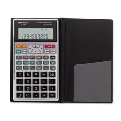 SHARP Electronics Corp EL738FB EL-738C Financial Calculator, 10-Digit LCD