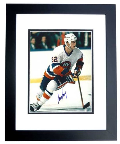 Mike Bossy Signed - Autographed New York Islanders 8x10 inch Photo BLACK CUSTOM FRAME