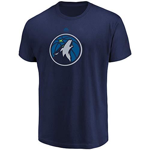 - Majestic Minnesota Timberwolves Men's Team Primary Logo T-Shirt Navy (Medium)