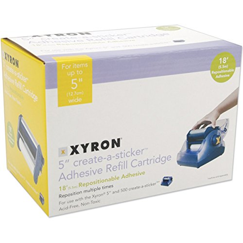 Xyron AT1506-18 Acid-Free Repositionable Adhesive Refill Cartridge for The XRN500 5-inch Create-a-Sticker, ()