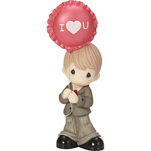 Precious Moments You Make My Heart Smile Boy With Balloon Bisque Porcelain Figurine 182015 ()