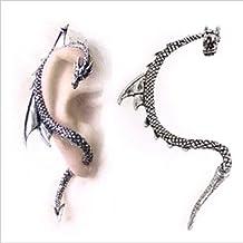 Etosell CZ Crystal Star Flower Ear Vine Wrap Pin Gold Ear Cuffs Climber Earrings 1 Pair