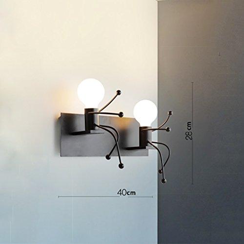 De Chevet Allée Salon Mur S'allume Creative Lampe Chambre HeD2W9IYE