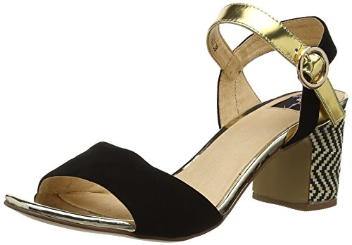 Giudecca Jycx1413-1a, Women's Sandals Multicolore (Black/Gold)
