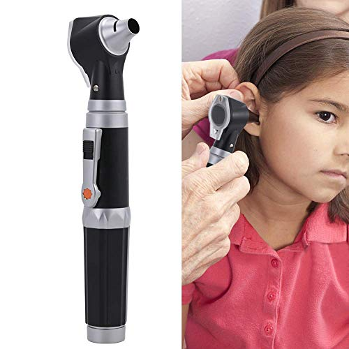 (Otoscopes 2-in-1 Home Use Kit, Fiber Optic Digital Bright LED Ear Light Design, 3X Magnification with Storage, Washable Speculum Tips for Children, Adults)