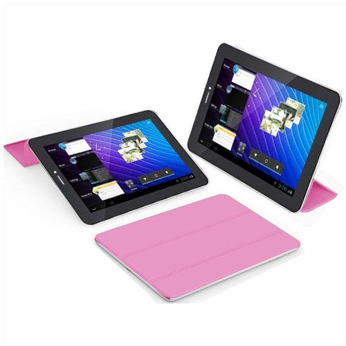 Tablet PC Phablet 7'' 3G Smartphone Android 4.4 Bluetooth Built-in Pink Smart Cover - UNLOCKED - by inDigi