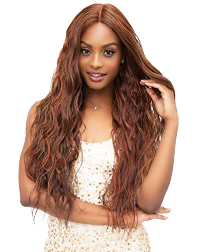 (Janet Collection Extended Part Deep Swiss MICHELLE Lace Front Wig)