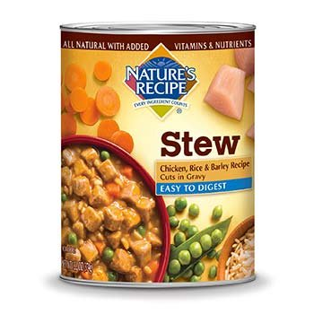 Nature's Recipe Easy to Digest Chicken, Rice & Barley Cuts in Gravy Adult Canned Dog Food 12pack