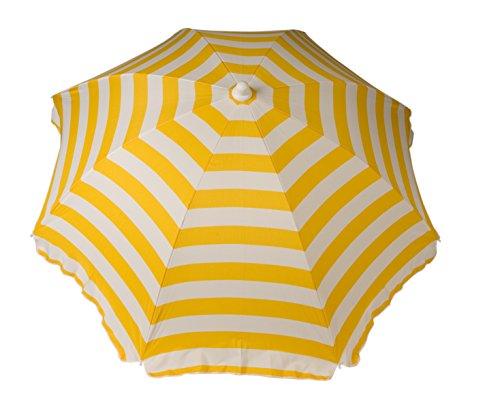 Large Yellow Cabana Stripe Umbrella