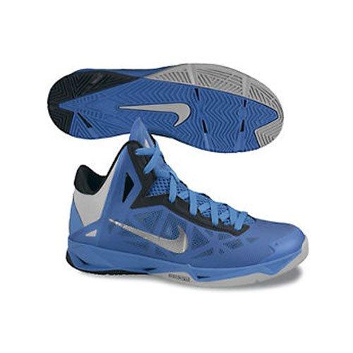 Zapatillas De Baloncesto Nike Zoom Hyperchaos Para Hombre 536841-400 Foto Azul / Negro / Gris Lobo