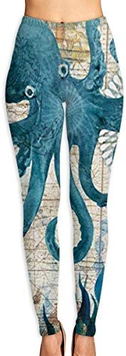 Hunter qiang Die Peixe-Weinlese-hohe Taillen-Trainingshose der Yogahosenfrauen
