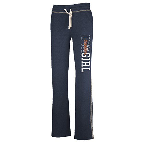 NCAA Virginia Cavaliers W Lounger Pant, Navy Heather, Small
