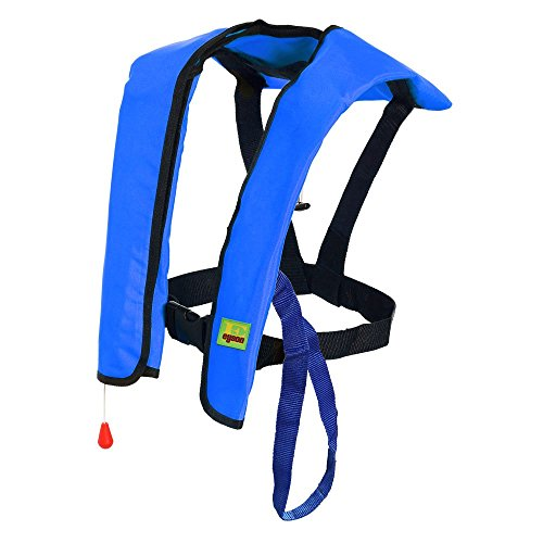 Premium Quality Manual Inflatable Life Jacket Lifejacket PFD Floating Life Vest Inflate Survival Aid Lifesaving PFD Basic Blue Color