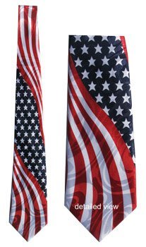 Necktie - USA Flag (Wavy)