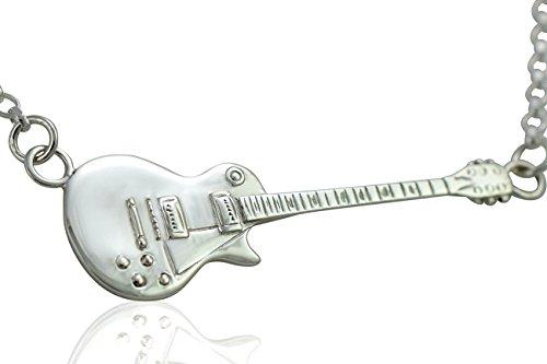 Collier avec pendentif femme-argent fin 925-design miniature guitare gibson les paul/-elektrogitarre Großer Anhänger; 5 cm (horizontal)