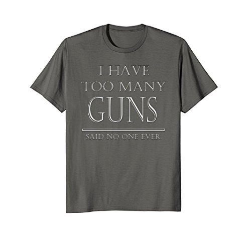 Mens Gun Lover and Firearm, Rifle, and Pistol Collector Tee Large ()